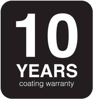 10-Year Limited Coating Warranty