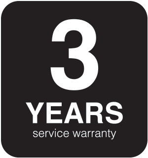 3-Year Limited Service Warranty
